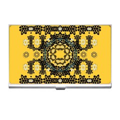 Ornate Circulate Is Festive In A Flower Wreath Decorative Business Card Holders