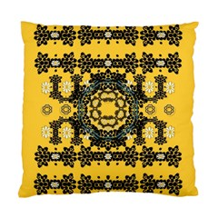 Ornate Circulate Is Festive In A Flower Wreath Decorative Standard Cushion Case (two Sides)