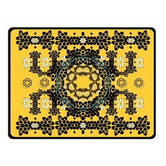Ornate Circulate Is Festive In A Flower Wreath Decorative Fleece Blanket (small)