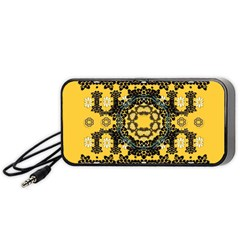 Ornate Circulate Is Festive In A Flower Wreath Decorative Portable Speaker