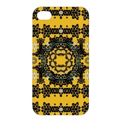 Ornate Circulate Is Festive In A Flower Wreath Decorative Apple Iphone 4/4s Premium Hardshell Case