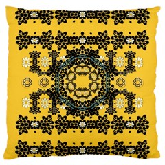 Ornate Circulate Is Festive In A Flower Wreath Decorative Large Cushion Case (one Side)
