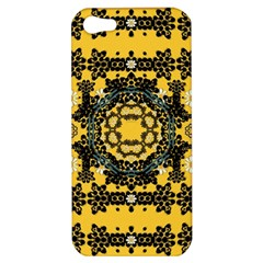 Ornate Circulate Is Festive In A Flower Wreath Decorative Apple Iphone 5 Hardshell Case