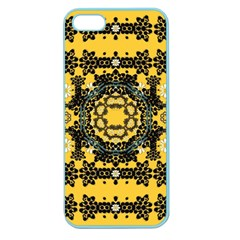 Ornate Circulate Is Festive In A Flower Wreath Decorative Apple Seamless Iphone 5 Case (color)