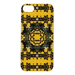 Ornate Circulate Is Festive In A Flower Wreath Decorative Apple Iphone 5s/ Se Hardshell Case