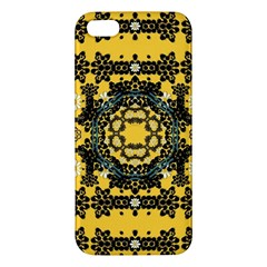 Ornate Circulate Is Festive In A Flower Wreath Decorative Iphone 5s/ Se Premium Hardshell Case