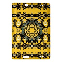 Ornate Circulate Is Festive In A Flower Wreath Decorative Amazon Kindle Fire Hd (2013) Hardshell Case