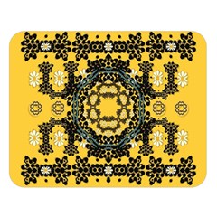 Ornate Circulate Is Festive In A Flower Wreath Decorative Double Sided Flano Blanket (large)