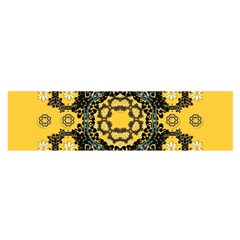 Ornate Circulate Is Festive In A Flower Wreath Decorative Satin Scarf (oblong)