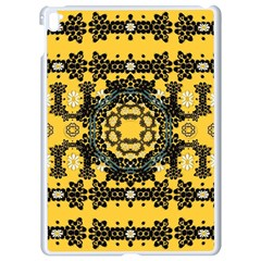 Ornate Circulate Is Festive In A Flower Wreath Decorative Apple Ipad Pro 9 7   White Seamless Case