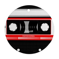 Compact Cassette Round Ornament (two Sides)