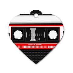 Compact Cassette Dog Tag Heart (two Sides)