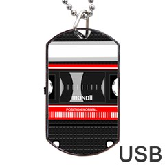 Compact Cassette Dog Tag Usb Flash (two Sides)