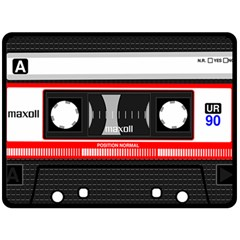 Compact Cassette Double Sided Fleece Blanket (large)