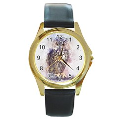 Bird 2552769 1920 Round Gold Metal Watch