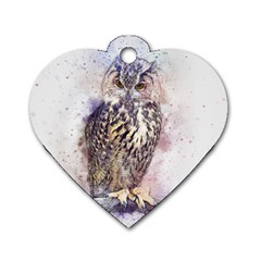 Bird 2552769 1920 Dog Tag Heart (two Sides)