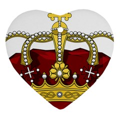 Crown 2024678 1280 Heart Ornament (two Sides)