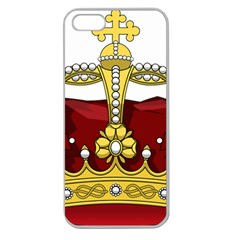 Crown 2024678 1280 Apple Seamless Iphone 5 Case (clear)