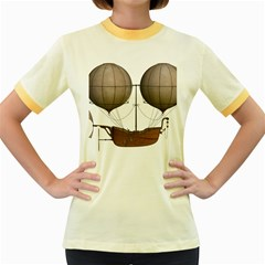 Air Ship 1300078 1280 Women s Fitted Ringer T Shirts