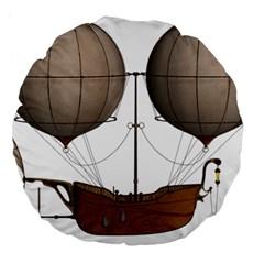 Air Ship 1300078 1280 Large 18  Premium Flano Round Cushions
