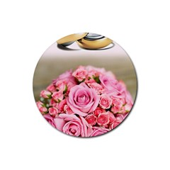 Wedding Rings 251290 1920 Rubber Coaster (round)