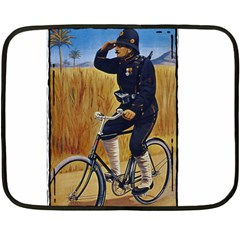 Policeman 1763380 1280 Double Sided Fleece Blanket (mini)
