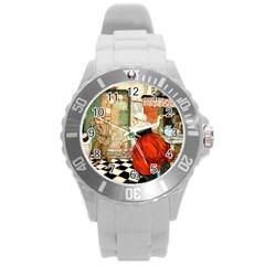 Vintage 1723768 1920 Round Plastic Sport Watch (l)