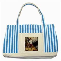 Bicycle 1763235 1280 Striped Blue Tote Bag