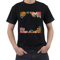 Flower 1770191 1920 Men s T Shirt (black) (two Sided)