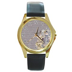 Background 1775352 1280 Round Gold Metal Watch