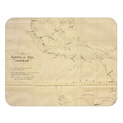 Map Double Sided Flano Blanket (large)