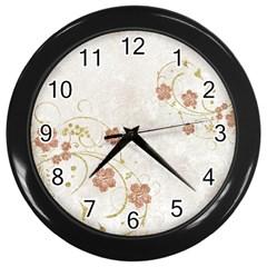 Floral Wall Clocks (black)