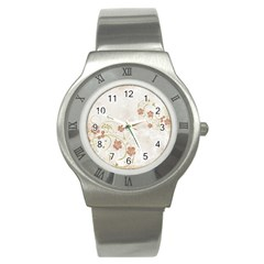 Floral Stainless Steel Watch