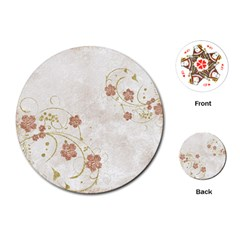 Floral Playing Cards (round)