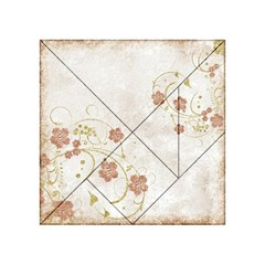 Floral Acrylic Tangram Puzzle (4  X 4 )