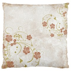 Floral Large Flano Cushion Case (one Side)
