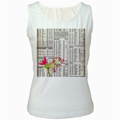 Background 1770129 1920 Women s White Tank Top