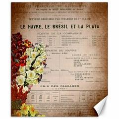 Letter Floral Canvas 20  X 24