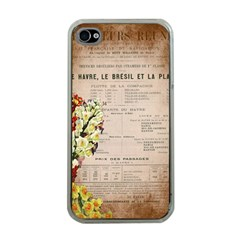 Letter Floral Apple Iphone 4 Case (clear)