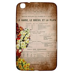 Letter Floral Samsung Galaxy Tab 3 (8 ) T3100 Hardshell Case
