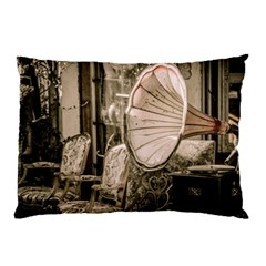 Flea Market Redord Player Pillow Case (two Sides)