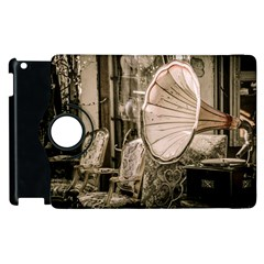 Flea Market Redord Player Apple Ipad 3/4 Flip 360 Case