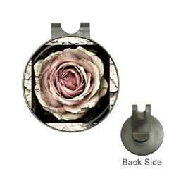 Vintage Rose Hat Clips With Golf Markers