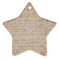Letter Star Ornament (two Sides)