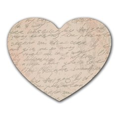 Letter Heart Mousepads