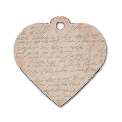 Letter Dog Tag Heart (one Side)