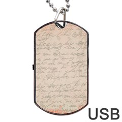 Letter Dog Tag Usb Flash (two Sides)