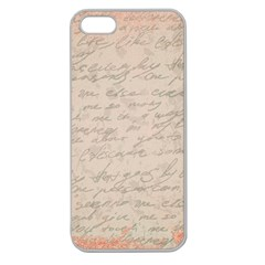 Letter Apple Seamless Iphone 5 Case (clear)