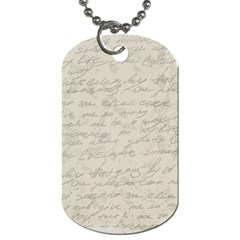 Handwritten Letter 2 Dog Tag (two Sides)