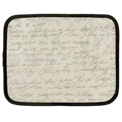 Handwritten Letter 2 Netbook Case (xxl)